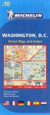 Michelin Map 10 Washington Dc By Michelin Travel & Lifestyle (COR)